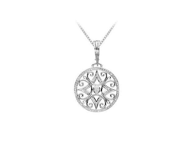 Diamond Enhancer Pendant  14K White Gold - 0.65 CT Diamonds