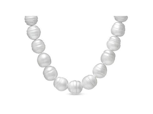 14MM Freshwater Cultured Pearl Strand Necklace 18 Inches Length