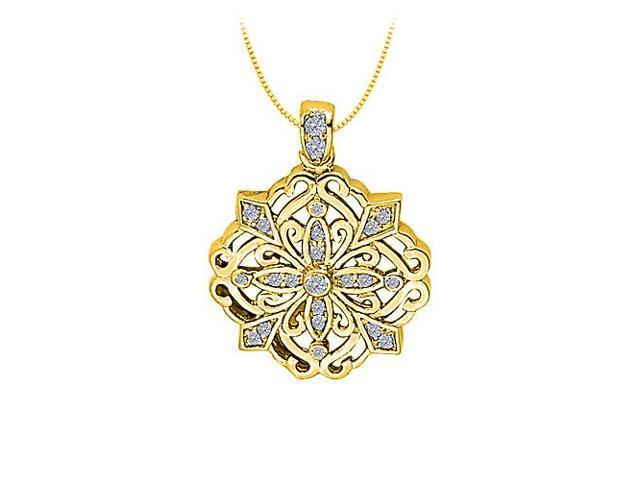 Cubic Zirconia Square Shaped Pendant in Gold Vermeil over Sterling Silver 1.50 CT TGW
