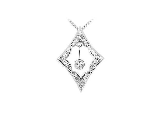 Diamond Frame Design Pendant  14K White Gold - 0.50 CT Diamonds