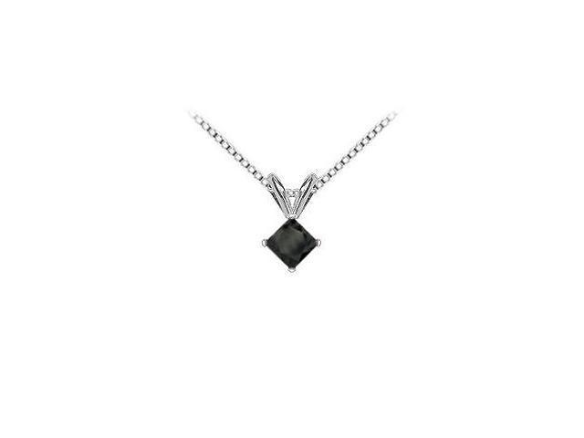 14K White Gold  Princess Cut Diamond Solitaire Pendant - 1.25 CT. TW.