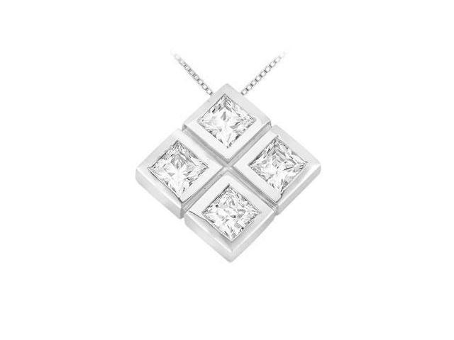 Diamond Pendant  14K White Gold - 1.00 CT Diamonds