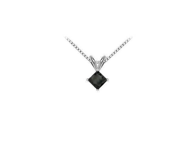 14K White Gold  Princess Cut Diamond Solitaire Pendant - 1.75 CT. TW.
