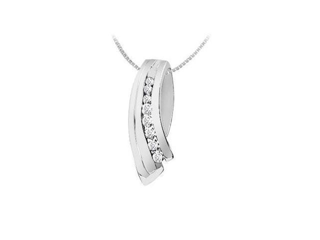 Diamond Pendant  14K White Gold - 0.25 CT Diamonds