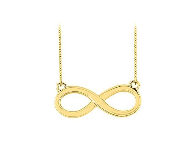 Infinity Pendant with 18K Yellow Gold Vermeil in Sterling Silver