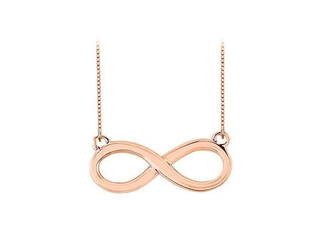 Infinity Pendant with 14K Rose Gold Vermeil Sterling Silver