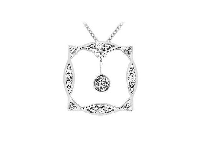 Diamond Frame Pendant  14K White Gold - 0.25 CT Diamonds