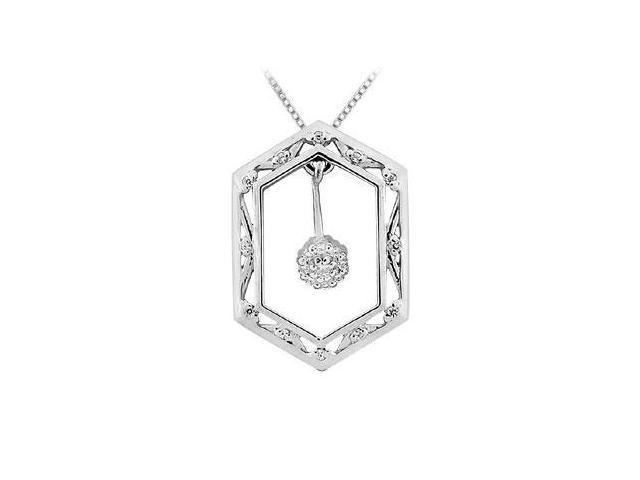 Diamond Frame Pendant  14K White Gold - 0.50 CT Diamonds