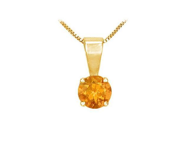 Citrine Solitaire Pendant  14K Yellow Gold - 1.00 CT TGW