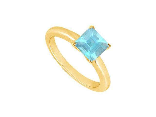 Aquamarine Ring  14K Yellow Gold - 0.75 CT TGW