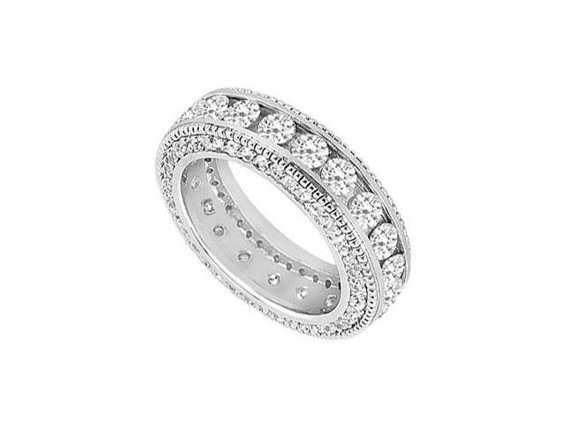 Diamond Wedding Band  14K White Gold - 2.25 CT Diamonds