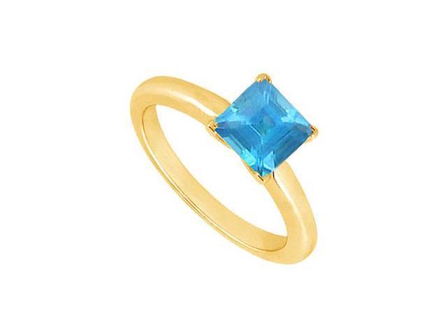Blue Topaz Ring  14K Yellow Gold - 0.75 CT TGW
