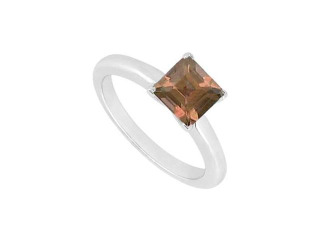 Smoky Topaz Ring  14K White Gold - 0.75 CT TGW