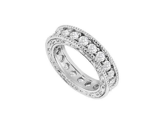 Diamond Wedding Band  14K White Gold - 1.50 CT Diamonds