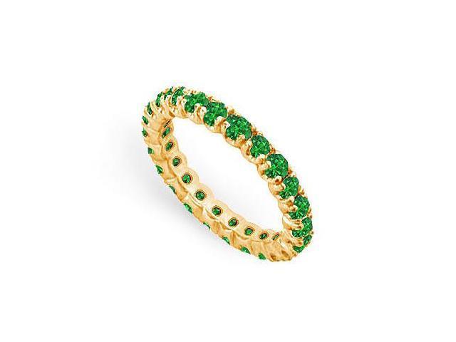 Emerald Eternity Band  14K Yellow Gold - 1.00 CT TGW