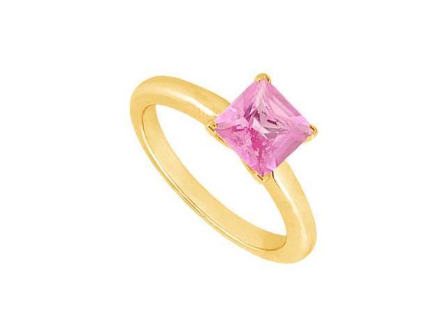 Pink Topaz Ring  14K Yellow Gold - 0.75 CT TGW