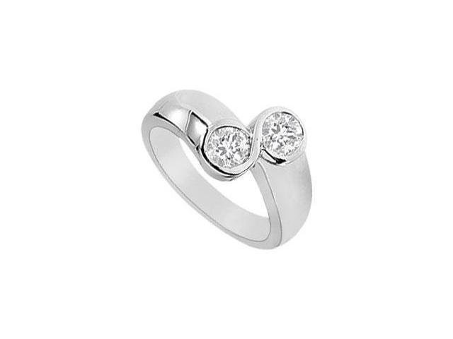 Diamond 8 Ring  14K White Gold - 0.75 CT Diamonds