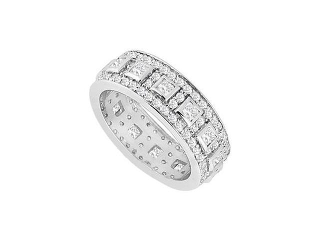 Diamond Wedding Band  14K White Gold - 1.75 CT Diamonds
