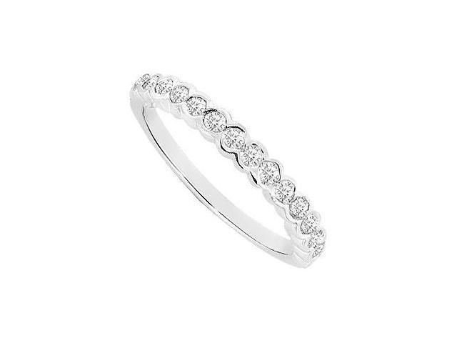 Diamond Wedding Band  14K White Gold - 0.40 CT Diamonds
