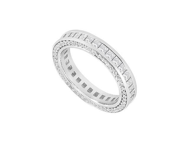 Diamond Wedding Band  14K White Gold - 2.00 CT Diamonds