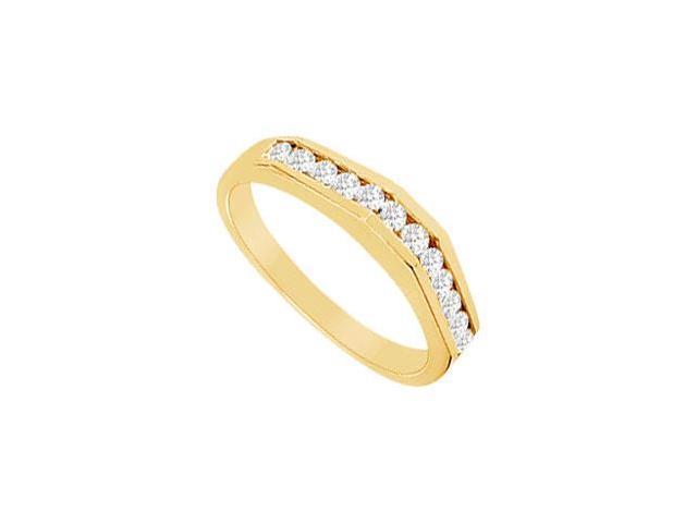 Diamond Wedding Band  14K Yellow Gold - 0.33 CT Diamonds