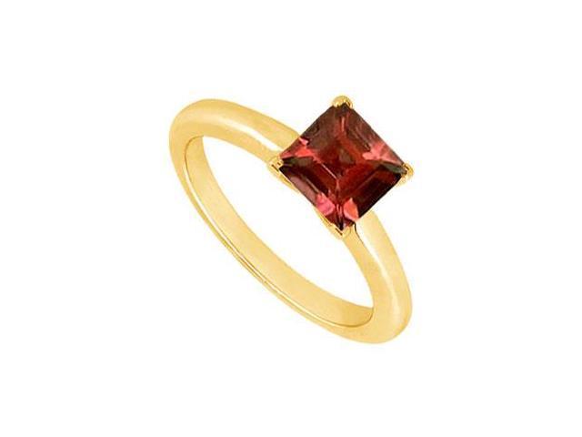 Garnet Ring  14K Yellow Gold - 0.75 CT TGW