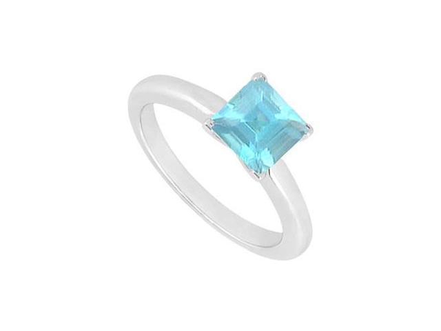 Aquamarine Ring  14K White Gold - 0.75 CT TGW