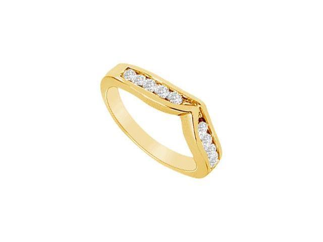 Diamond Wedding Band  14K Yellow Gold - 0.33 CT Diamonds
