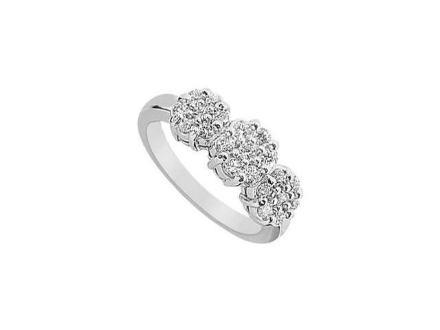 Diamond Flower Ring  14K White Gold - 0.75 CT Diamonds