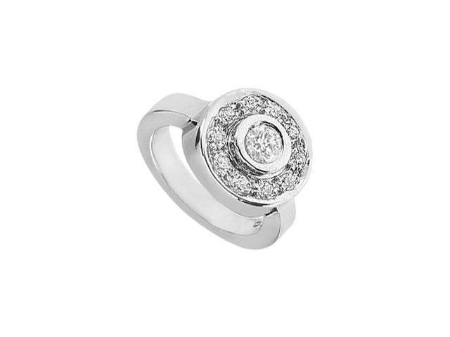 Diamond Circle Ring  14K White Gold - 0.50 CT Diamonds