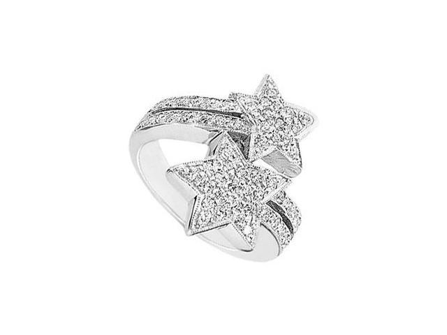 Diamond Star Ring  14K White Gold - 1.00 CT Diamonds
