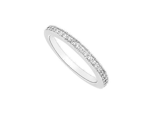 Diamond Wedding Band  14K White Gold - 0.25 CT Diamonds
