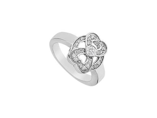 Heart Diamond Ring  14K White Gold - 0.33 CT Diamonds