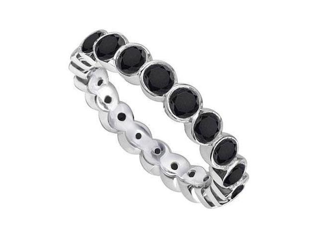 Black Diamond Eternity Band  14K White Gold - 1.00 CT Diamonds