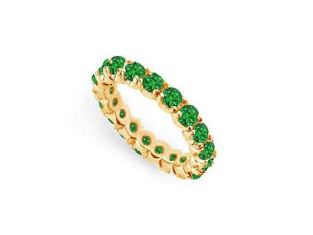 Emerald Eternity Band  14K Yellow Gold - 2.00 CT TGW