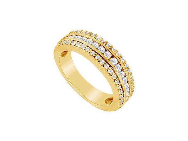 Diamond Wedding Band  14K Yellow Gold - 1.00 CT Diamonds