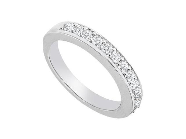 14K White Gold  Diamond Wedding Band 0.50 CT TDW