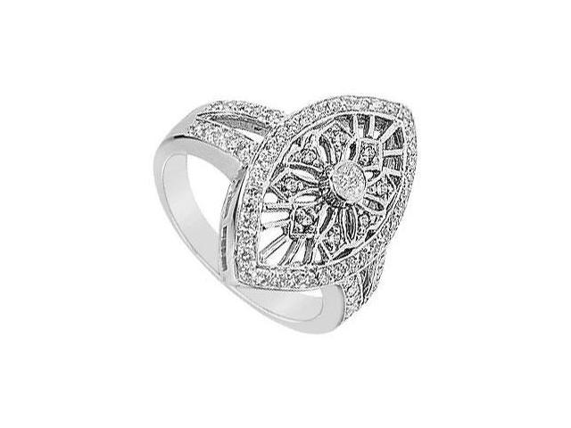 Diamond Classic Ring  14K White Gold - 0.75 CT Diamonds