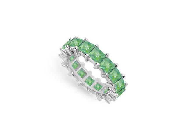 Emerald Eternity Band  14K White Gold  5.00 CT TGW
