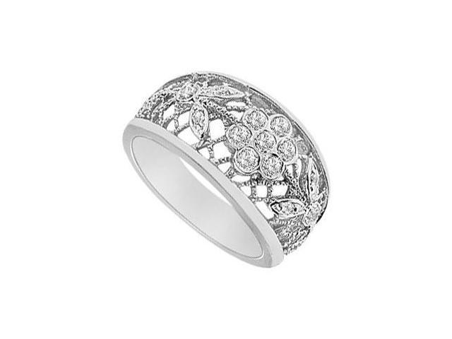 Diamond Flower Ring  14K White Gold - 0.50 CT Diamonds