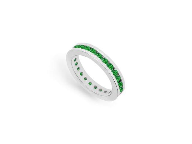 Emerald Eternity Band  14K White Gold  1.00 CT TGW