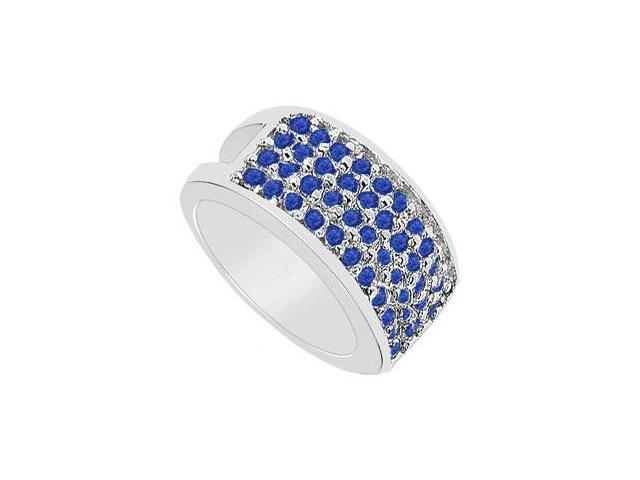 Blue Sapphire Ring  14K White Gold - 1.75 CT TGW