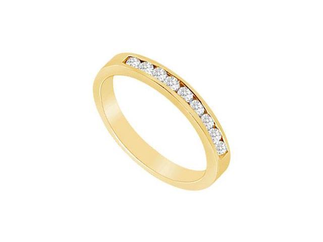 Diamond Wedding Band  14K Yellow Gold - 0.50 CT Diamonds