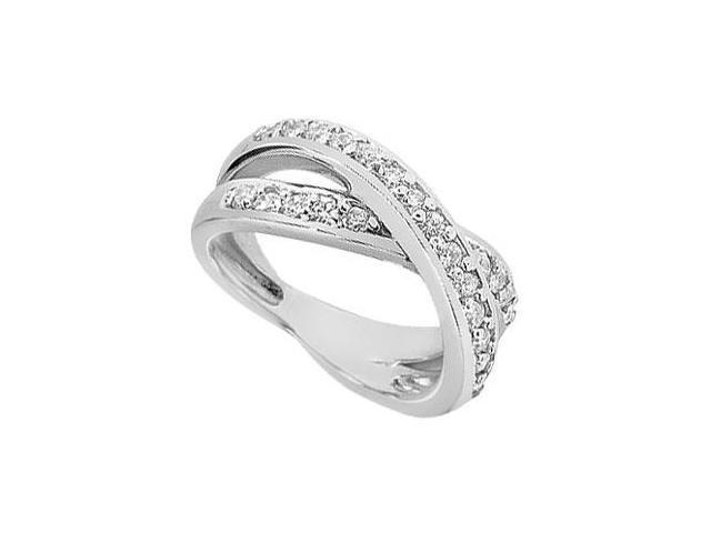 Diamond Crossover Ring  14K White Gold - 1.00 CT Diamonds