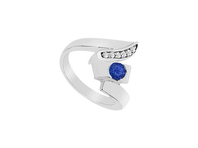 Sapphire Zig-Zag Ring  14K White Gold - 0.33 CT TGW