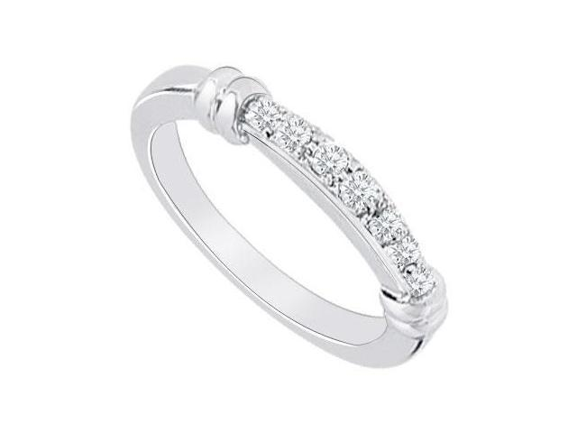 14K White Gold  Diamond Wedding Band 0.15 CT TDW