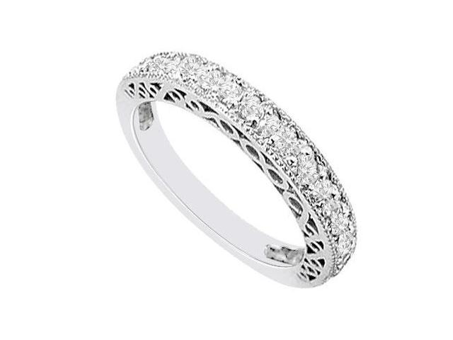 14K White Gold  Diamond Wedding Band 0.50 CT TDW
