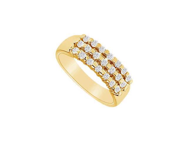 Diamond Wedding Band  14K Yellow Gold - 0.50 CT Diamonds