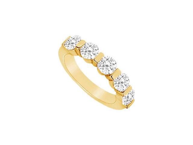 Diamond Wedding Band  14K Yellow Gold - 0.25 CT Diamonds