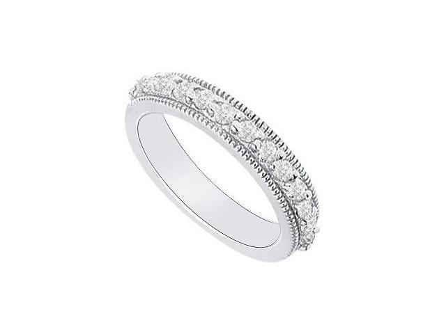 14K White Gold  Diamond Wedding Band 0.35 CT TDW